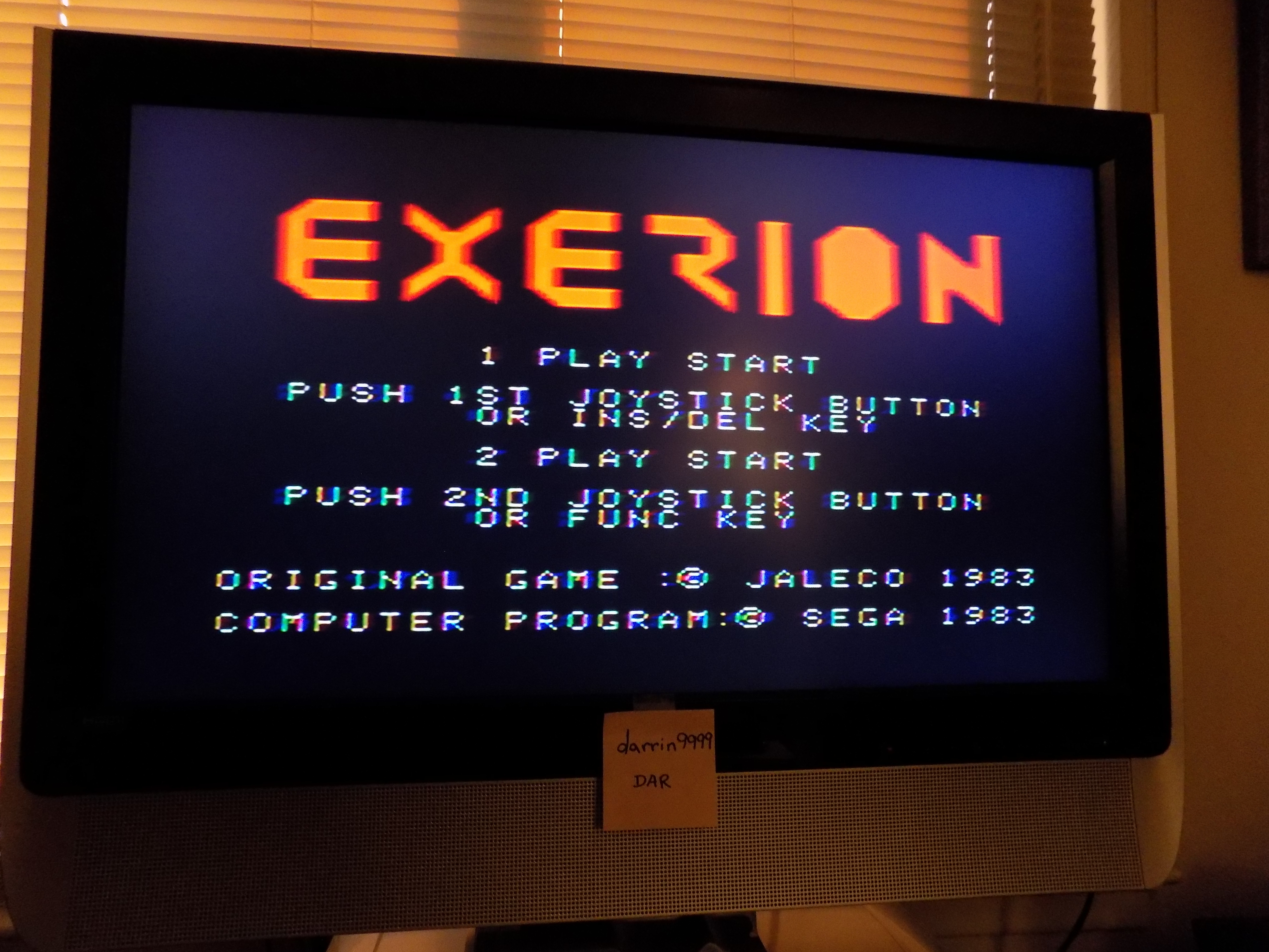 darrin9999: Exerion (Sega SG-1000) 25,700 points on 2017-06-24 20:40:03