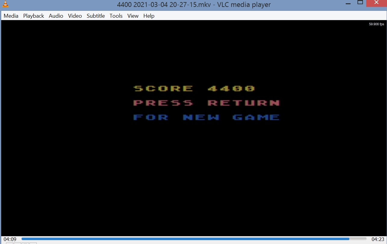 LuigiRuffolo: Exit Watch (Atari 400/800/XL/XE Emulated) 4,400 points on 2021-03-04 13:49:04