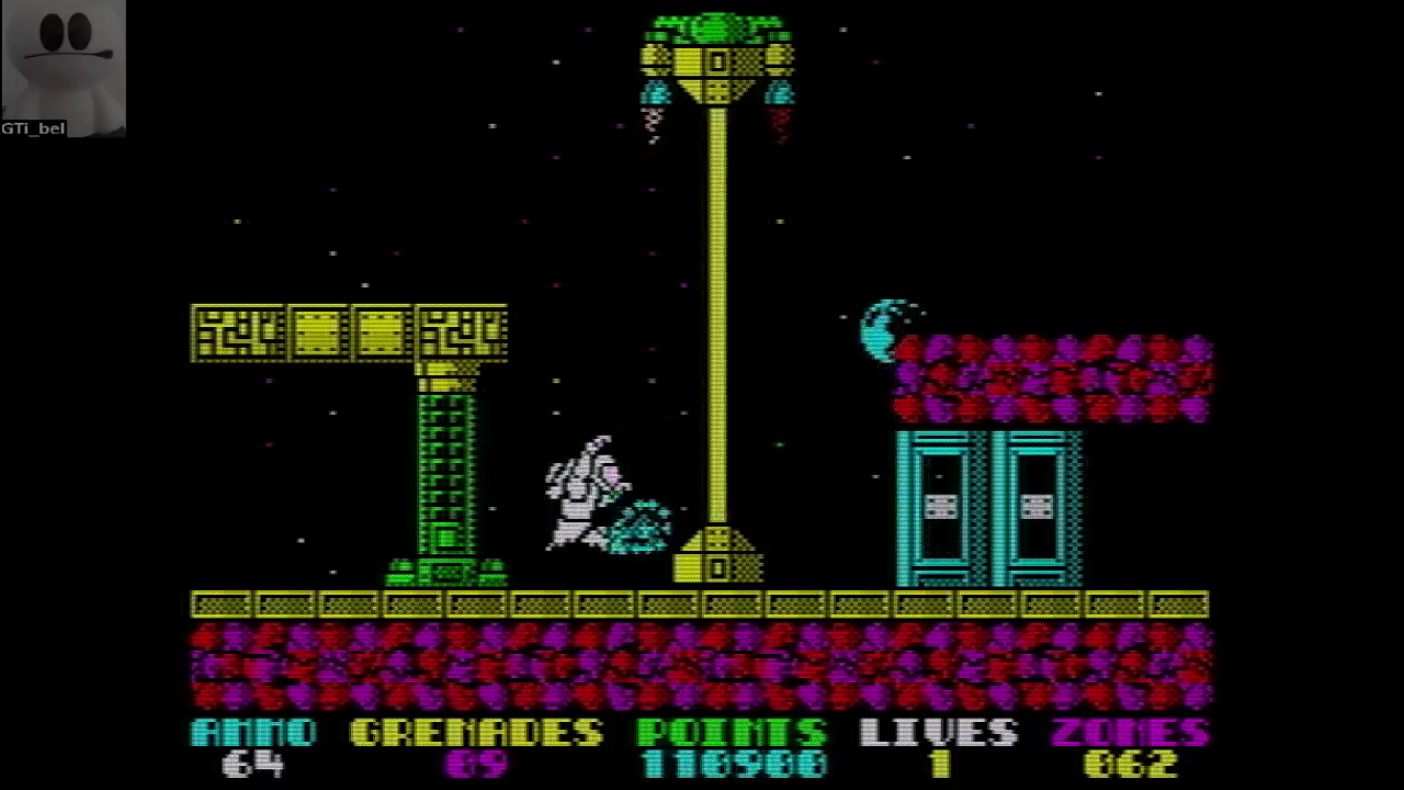 GTibel: Exolon (ZX Spectrum Emulated) 110,900 points on 2017-04-27 03:37:15