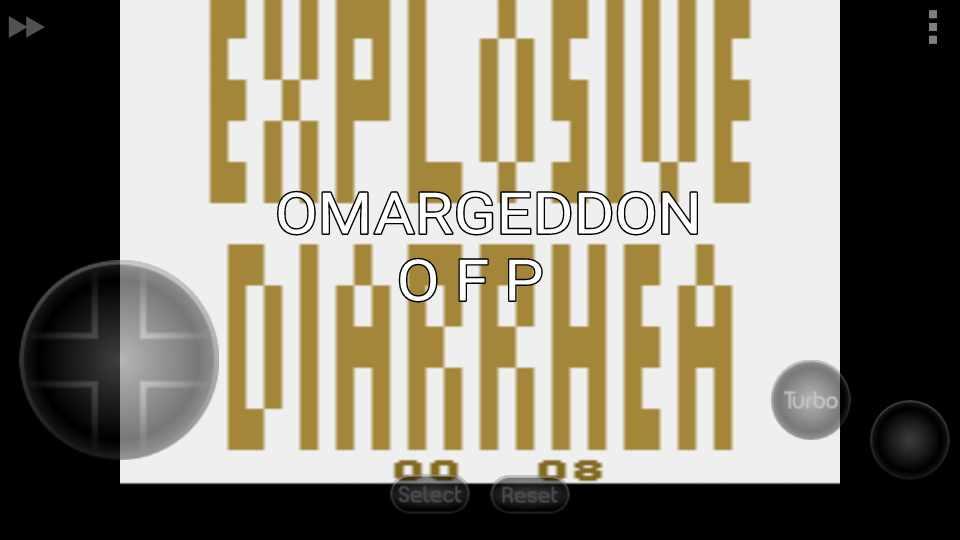 omargeddon: Explosive Diarrhea (Atari 2600 Emulated) 8 points on 2016-10-03 00:27:22