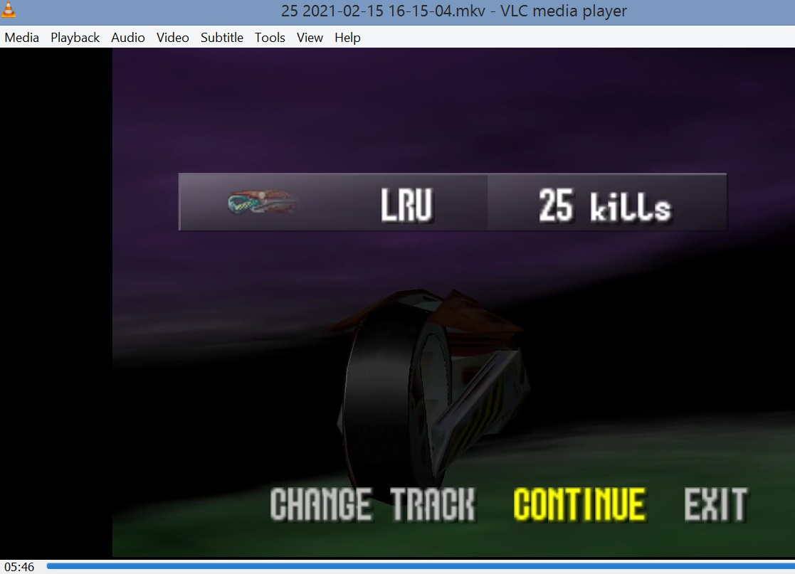 LuigiRuffolo: Extreme G: Kills: Space Station 1 (N64 Emulated) 25 points on 2021-02-18 06:30:00