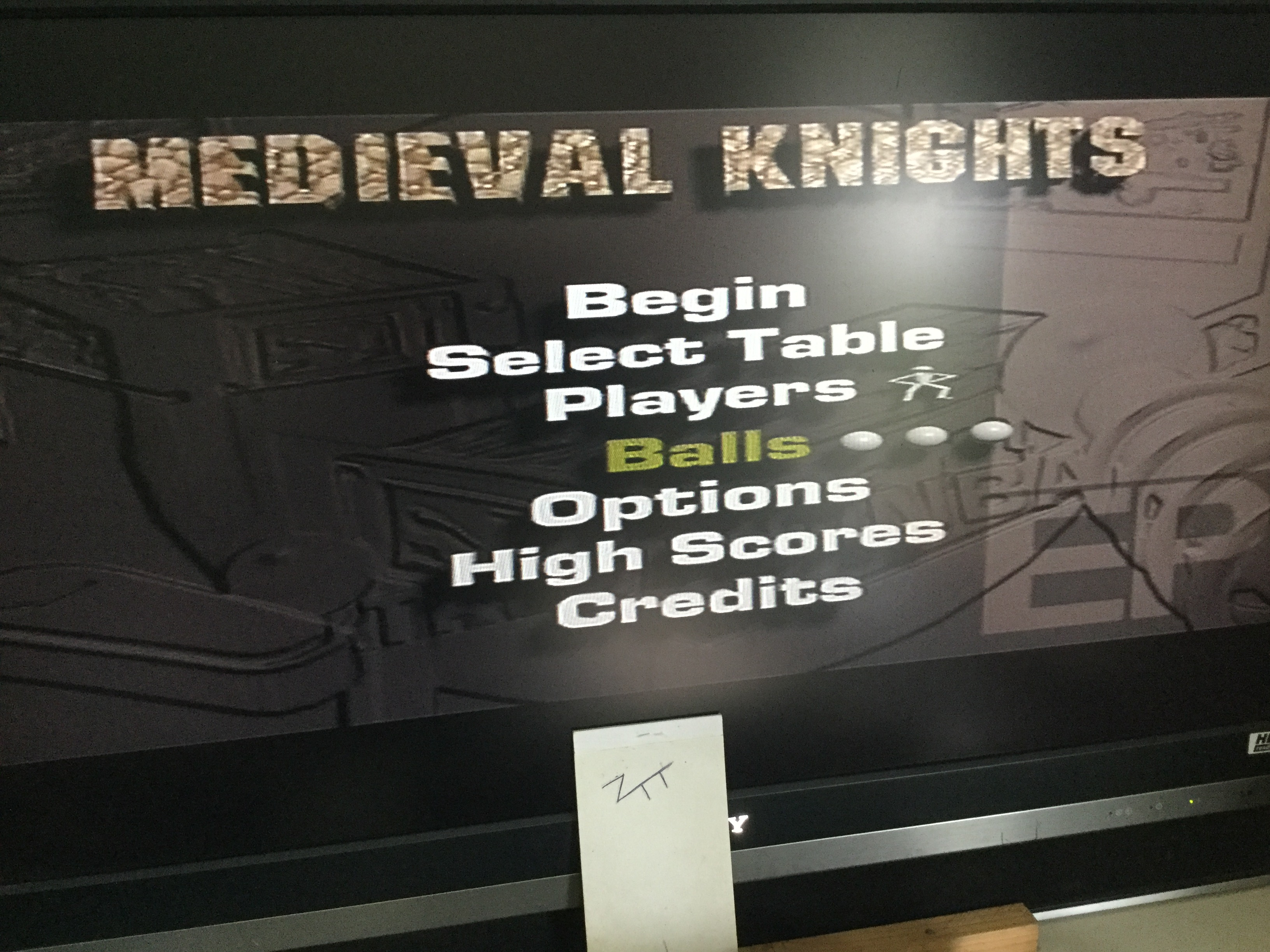 Frankie: Extreme Pinball: Medieval Knights: 3 Balls (Playstation 1) 20,296,000 points on 2019-08-18 04:58:49