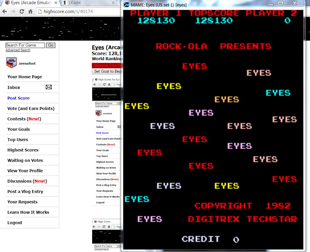Eyes 128,130 points