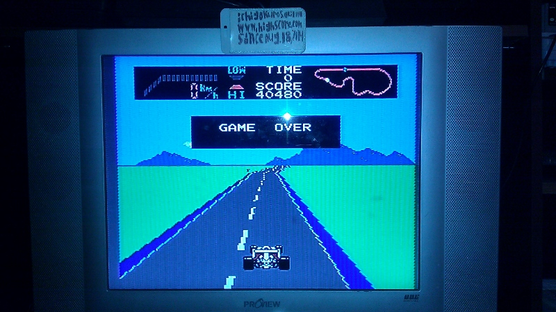 ichigokurosaki1991: F-1 Race: Skill 1 (NES/Famicom) 40,480 points on 2016-07-01 17:31:15