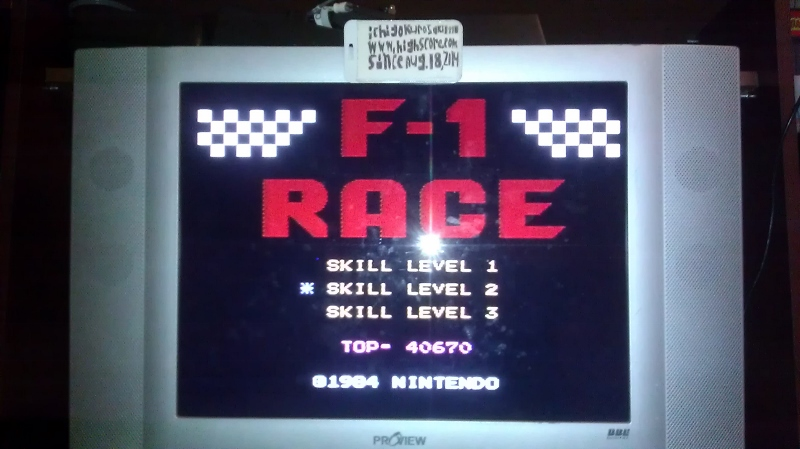 ichigokurosaki1991: F-1 Race: Skill 2 (NES/Famicom) 40,670 points on 2016-08-10 02:38:38