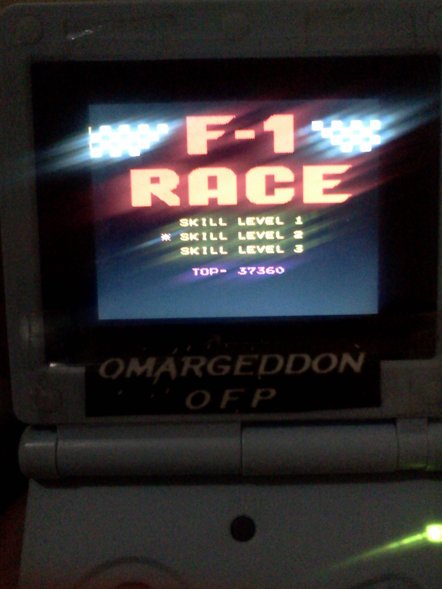 omargeddon: F-1 Race: Skill 2 (NES/Famicom Emulated) 37,360 points on 2016-08-21 21:50:54
