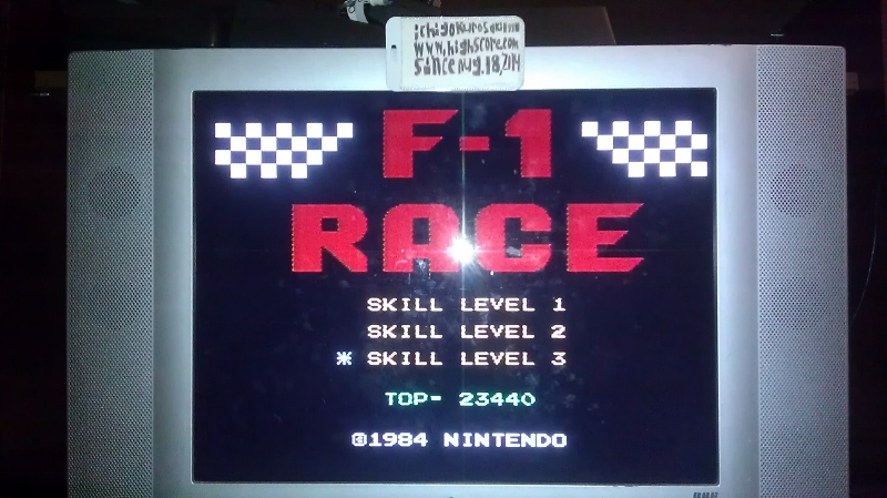 ichigokurosaki1991: F-1 Race: Skill 3 (NES/Famicom) 23,440 points on 2016-08-10 02:38:47
