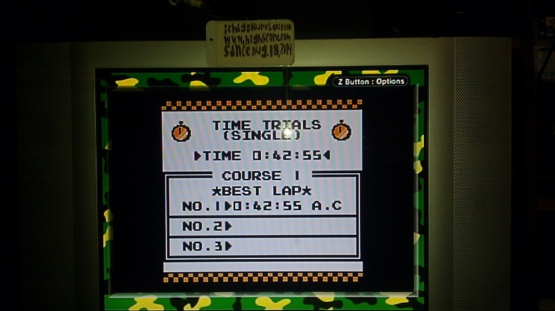 ichigokurosaki1991: F-1 Race: Time Trials: Single: Australia [Best Lap] (Game Boy) 0:00:42.55 points on 2016-06-21 23:18:59