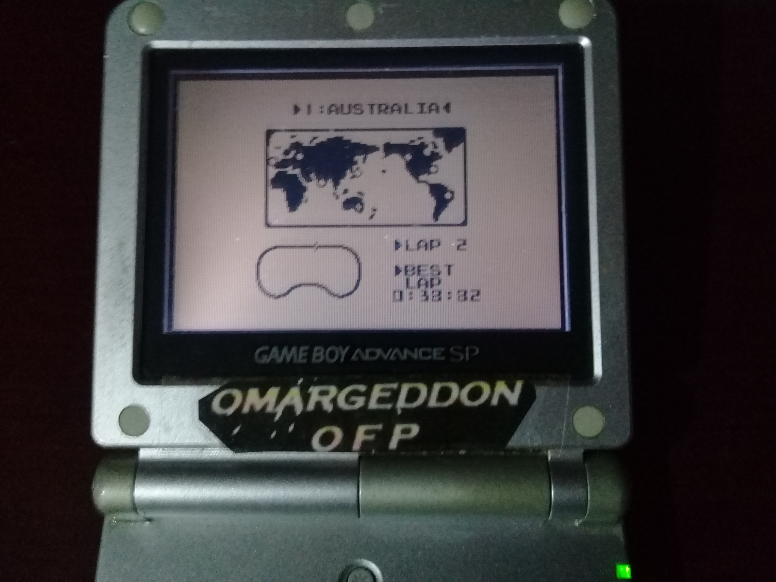 omargeddon: F-1 Race: Time Trials: Single: Australia [Best Lap] (Game Boy) 0:00:38.82 points on 2019-07-02 09:10:37
