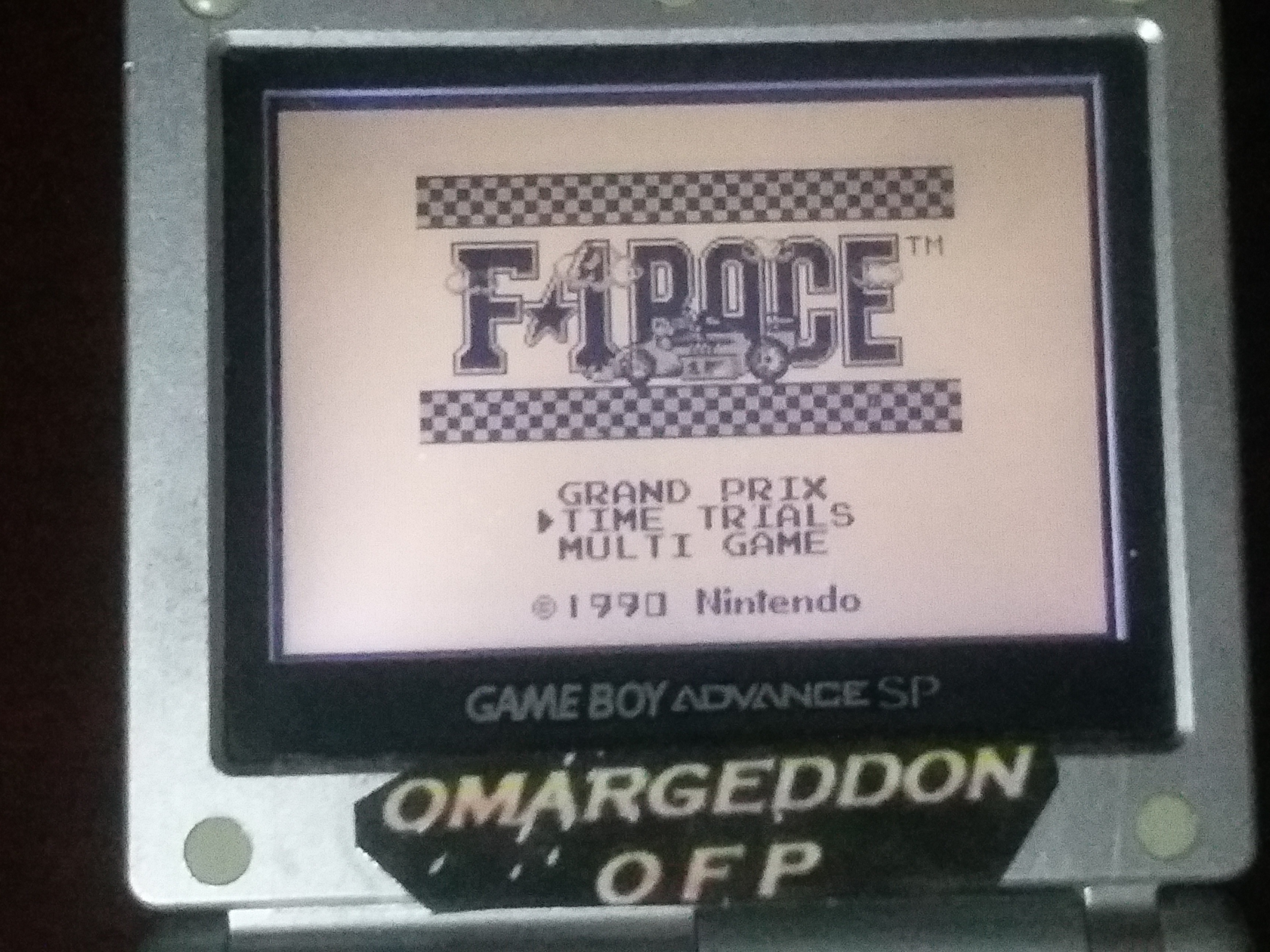omargeddon: F-1 Race: Time Trials: Single: Brazil [Best Lap] (Game Boy) 0:01:20.53 points on 2018-03-19 01:47:52
