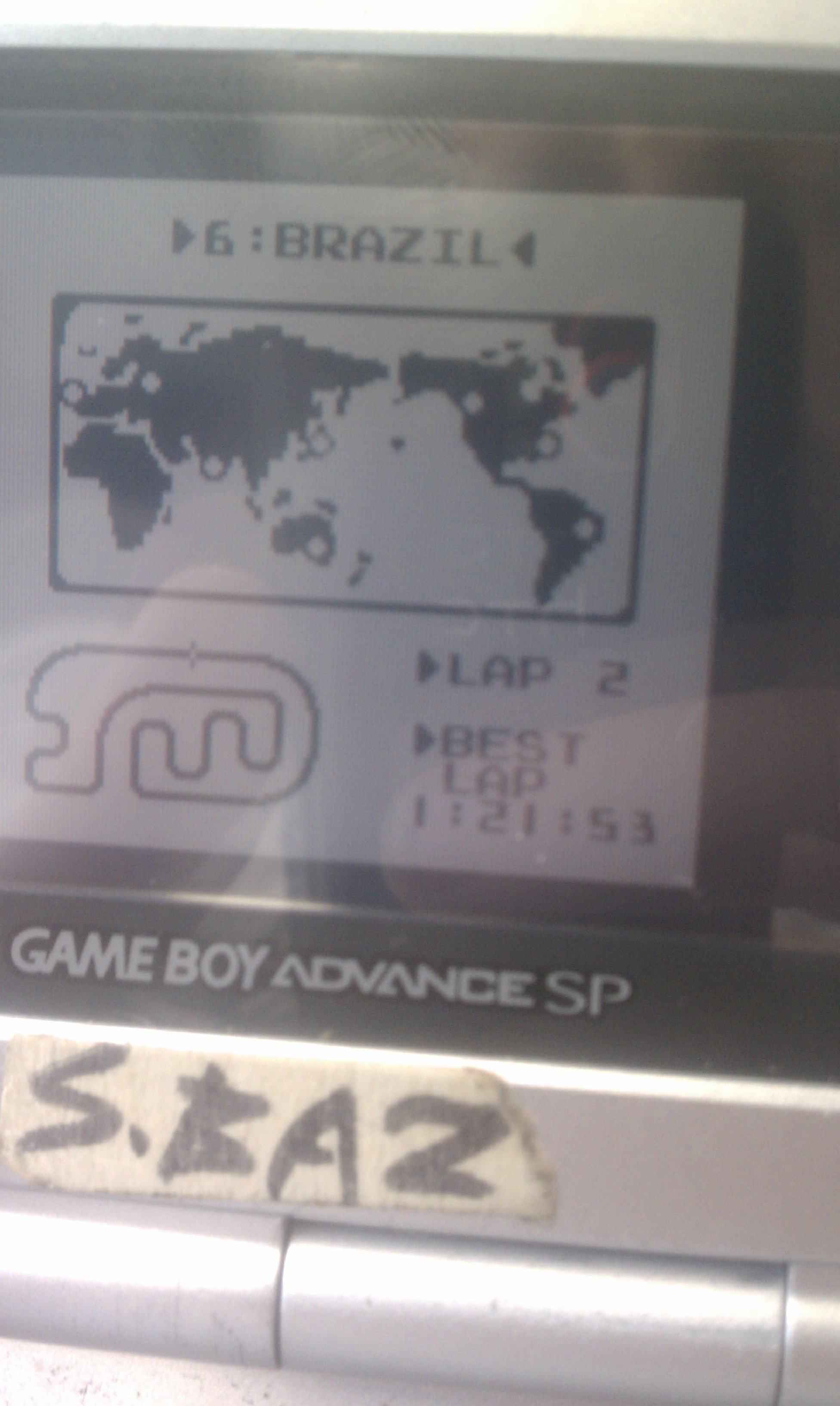 F-1 Race: Time Trials: Single: Brazil [Best Lap] time of 0:01:21.53