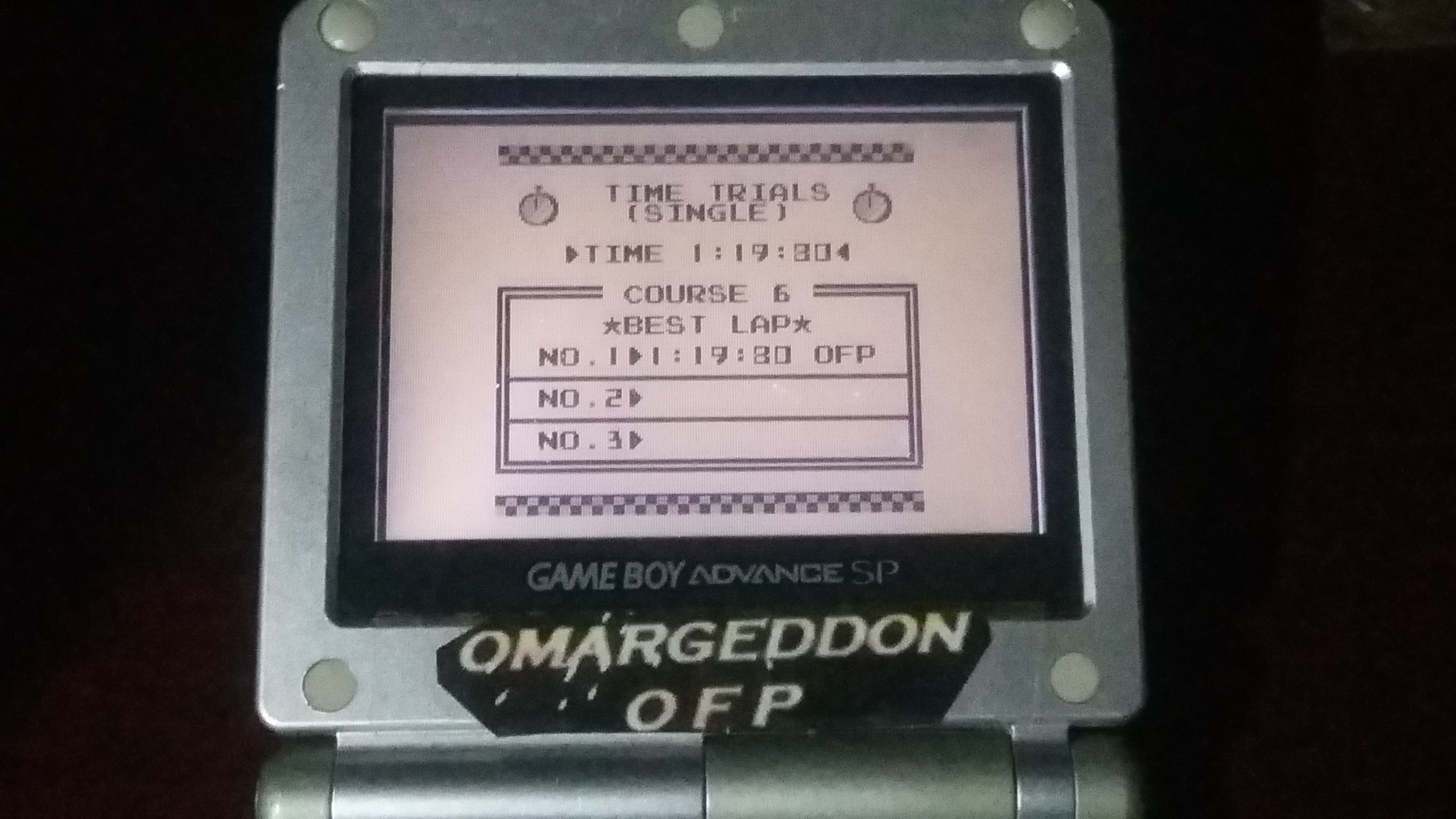 omargeddon: F-1 Race: Time Trials: Single: Brazil [Best Lap] (Game Boy) 0:01:19.8 points on 2018-10-24 22:18:13