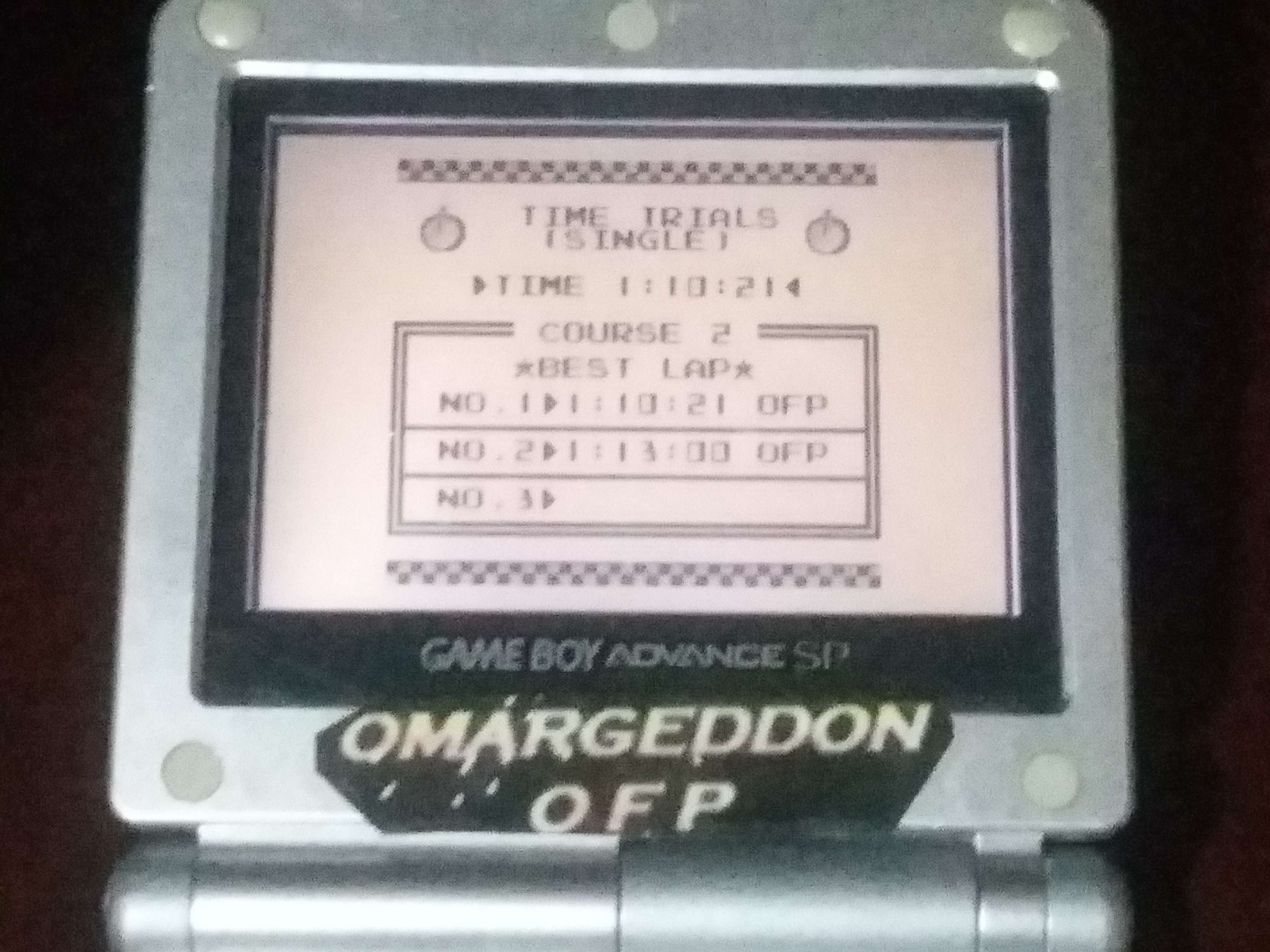 omargeddon: F-1 Race: Time Trials: Single: Canada [Best Lap] (Game Boy) 0:01:10.21 points on 2018-01-05 17:36:47