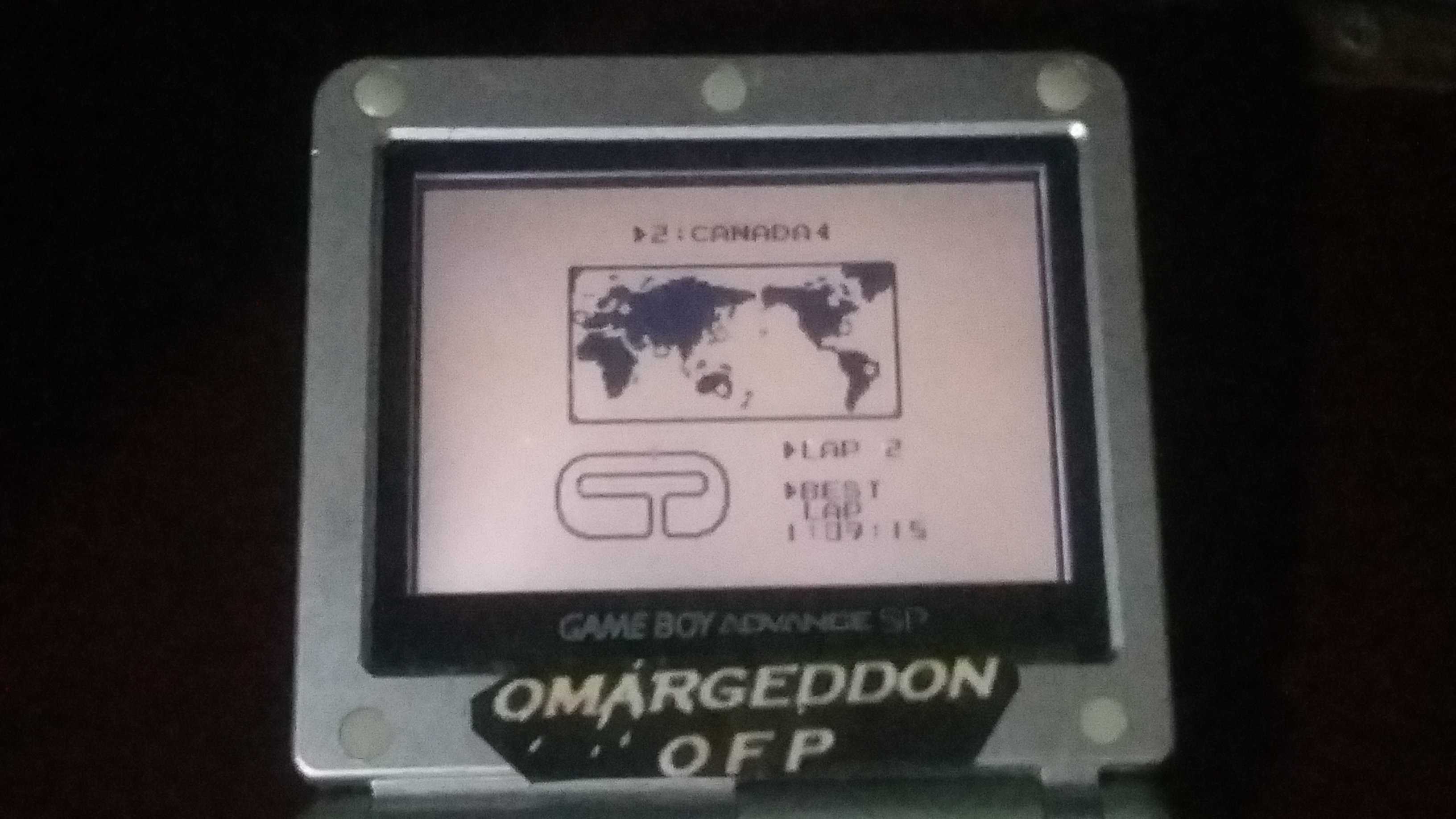 omargeddon: F-1 Race: Time Trials: Single: Canada [Best Lap] (Game Boy) 0:01:09.15 points on 2018-09-08 01:11:50