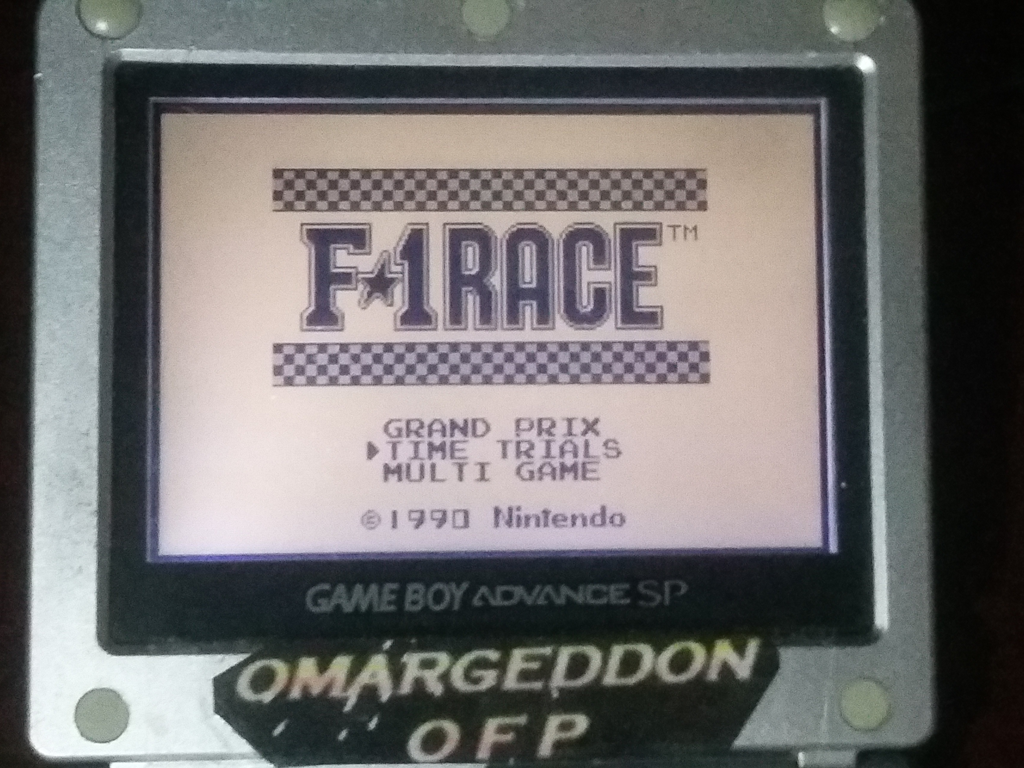 omargeddon: F-1 Race: Time Trials: Single: India [Best Lap] (Game Boy) 0:01:18.14 points on 2018-03-19 02:20:57