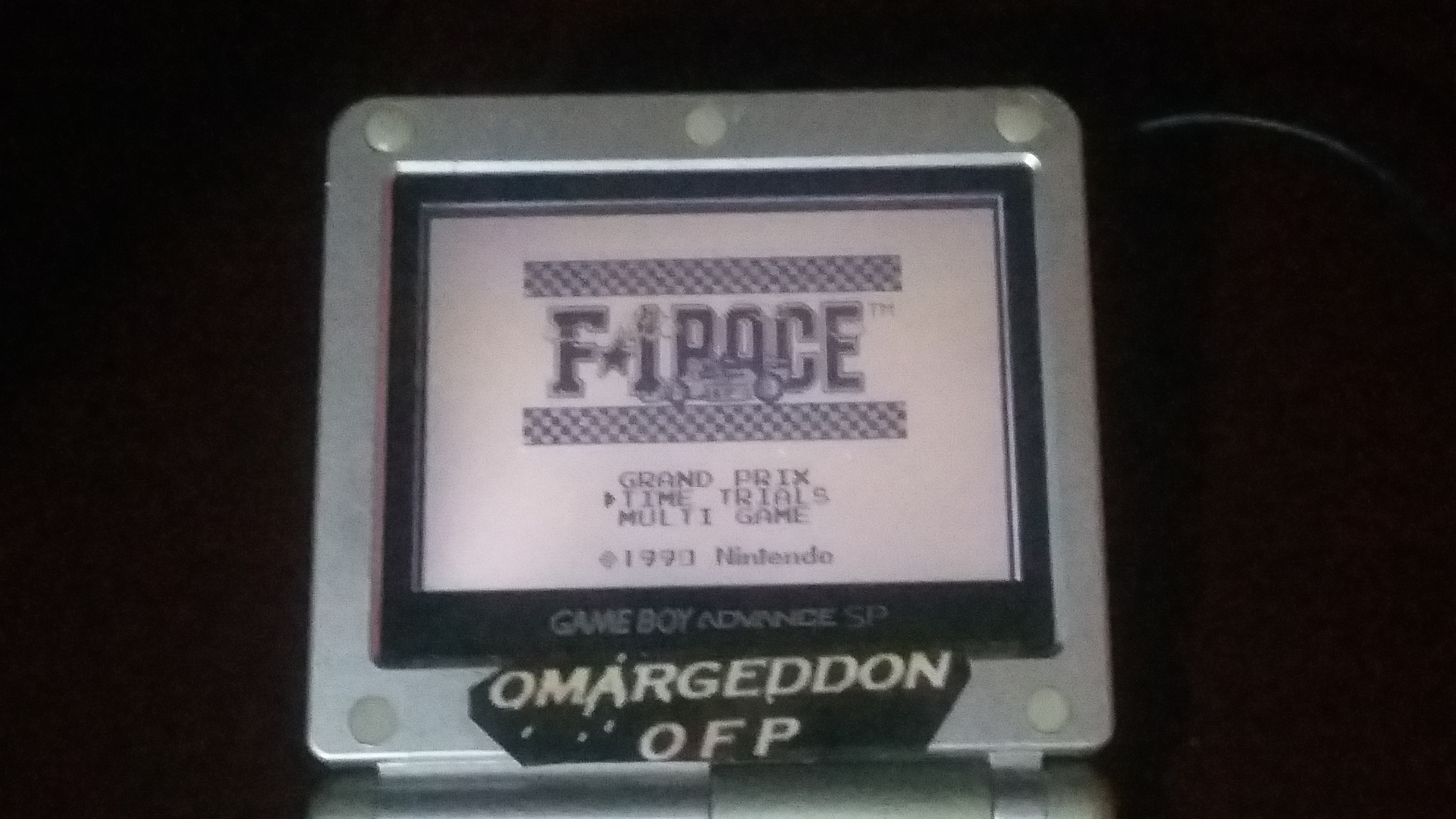 omargeddon: F-1 Race: Time Trials: Single: India [Best Lap] (Game Boy) 0:01:17.75 points on 2018-09-25 23:04:54