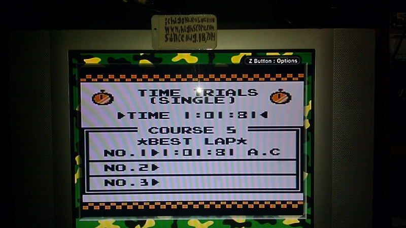 ichigokurosaki1991: F-1 Race: Time Trials: Single: Japan [Best Lap] (Game Boy) 0:01:01.81 points on 2016-06-21 23:20:00