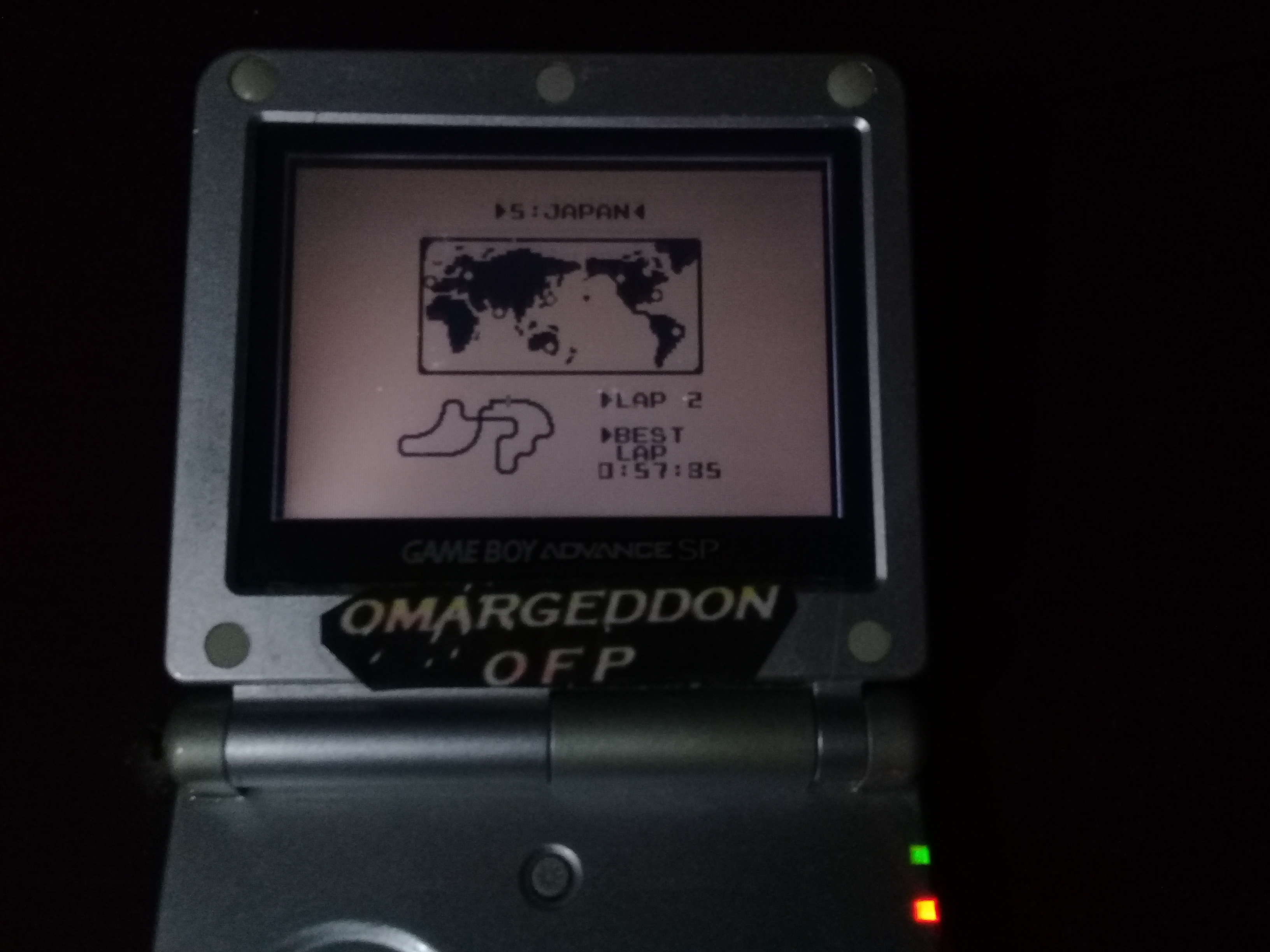 omargeddon: F-1 Race: Time Trials: Single: Japan [Best Lap] (Game Boy) 0:00:57.85 points on 2019-02-27 21:36:40