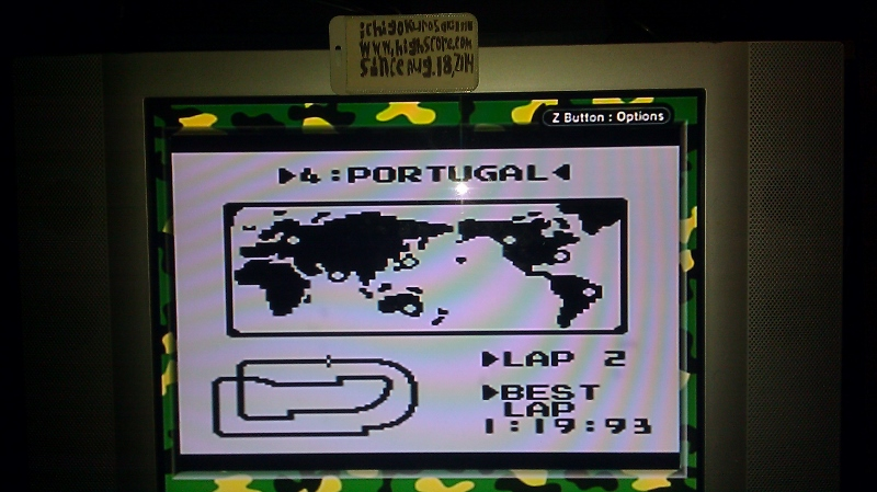 ichigokurosaki1991: F-1 Race: Time Trials: Single: Portugal [Best Lap] (Game Boy) 0:01:19.93 points on 2016-06-21 23:19:49