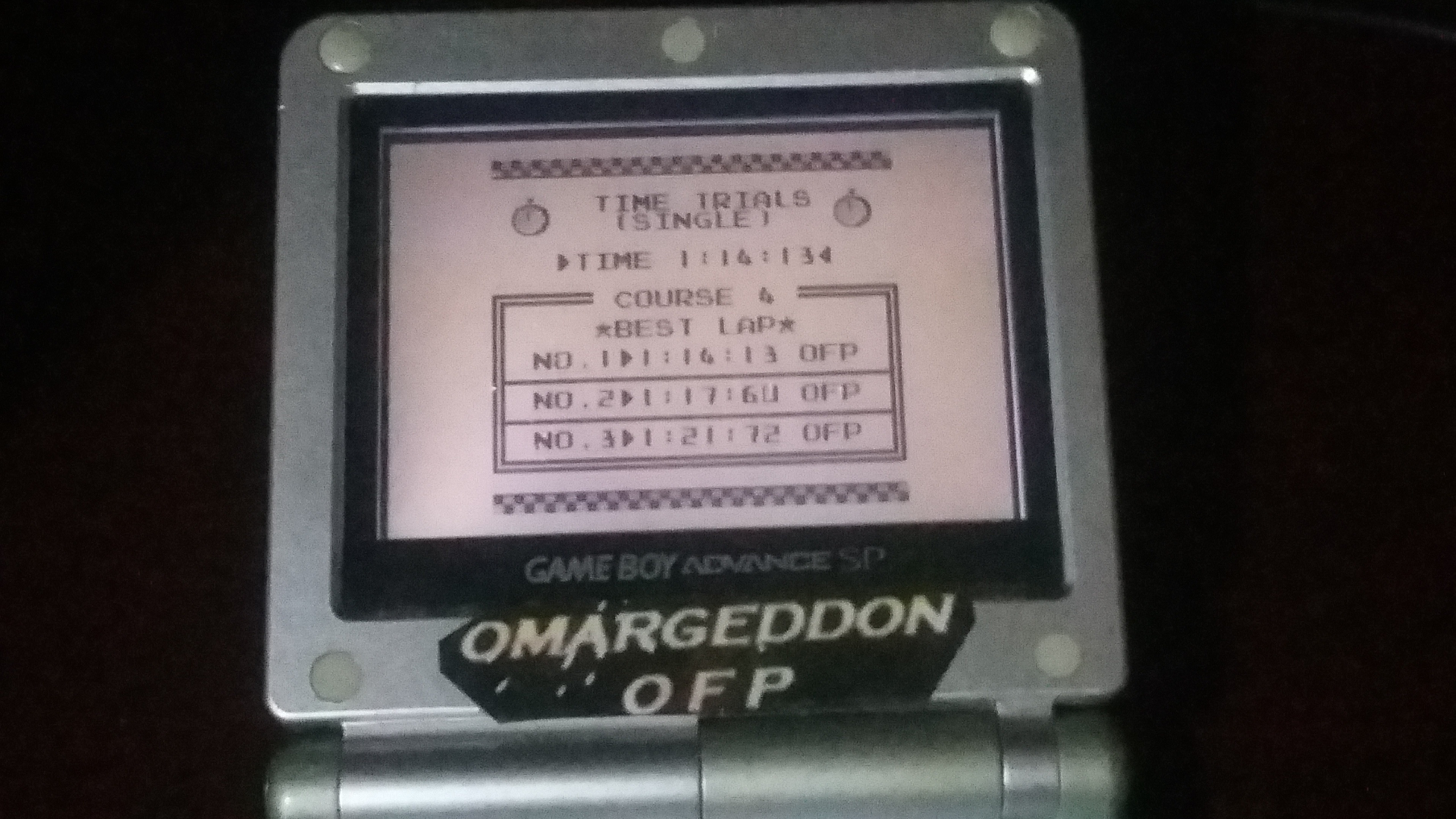 omargeddon: F-1 Race: Time Trials: Single: Portugal [Best Lap] (Game Boy) 0:01:14.13 points on 2018-09-07 23:38:33
