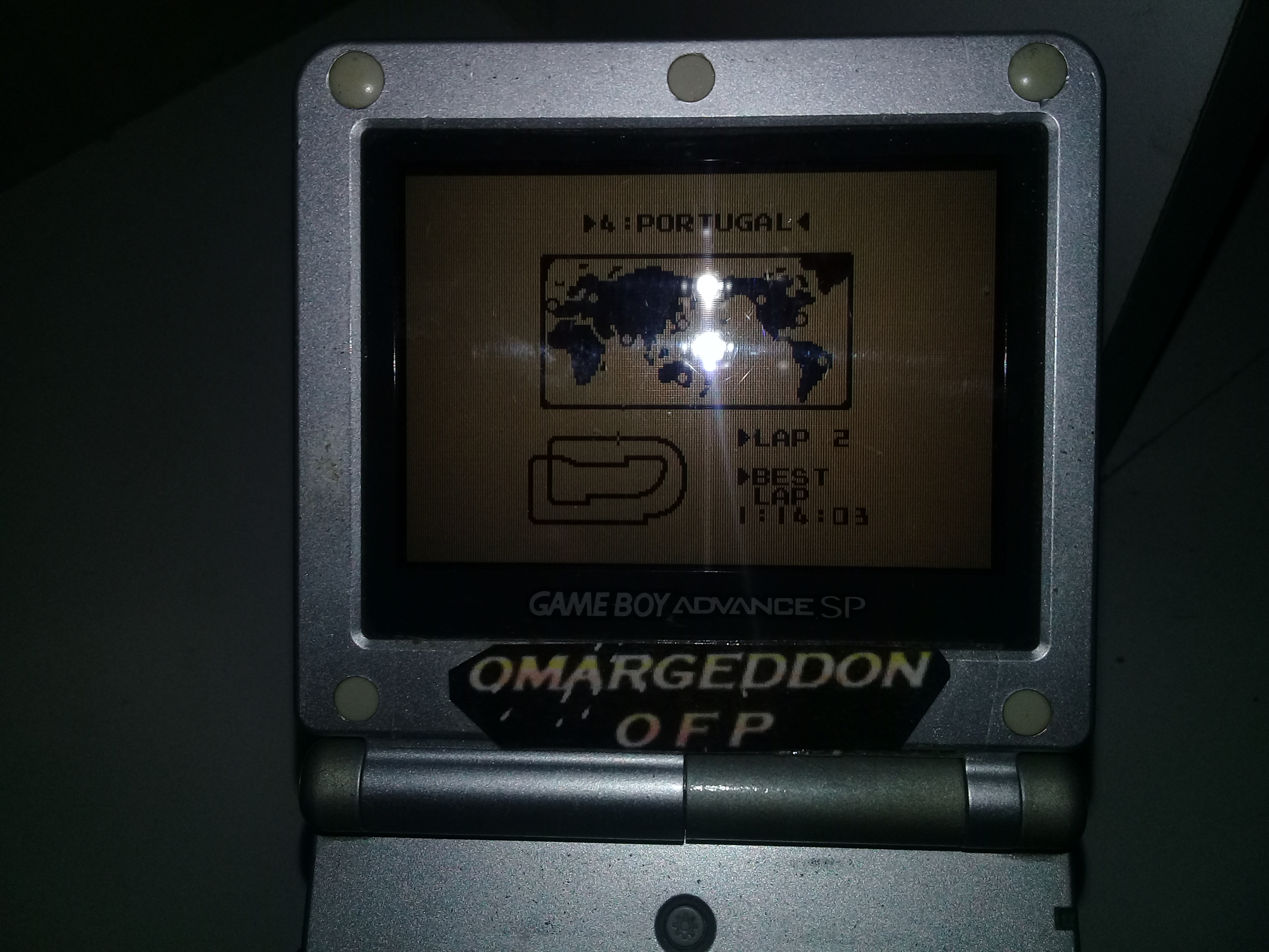 omargeddon: F-1 Race: Time Trials: Single: Portugal [Best Lap] (Game Boy) 0:01:14.03 points on 2018-12-08 17:52:13
