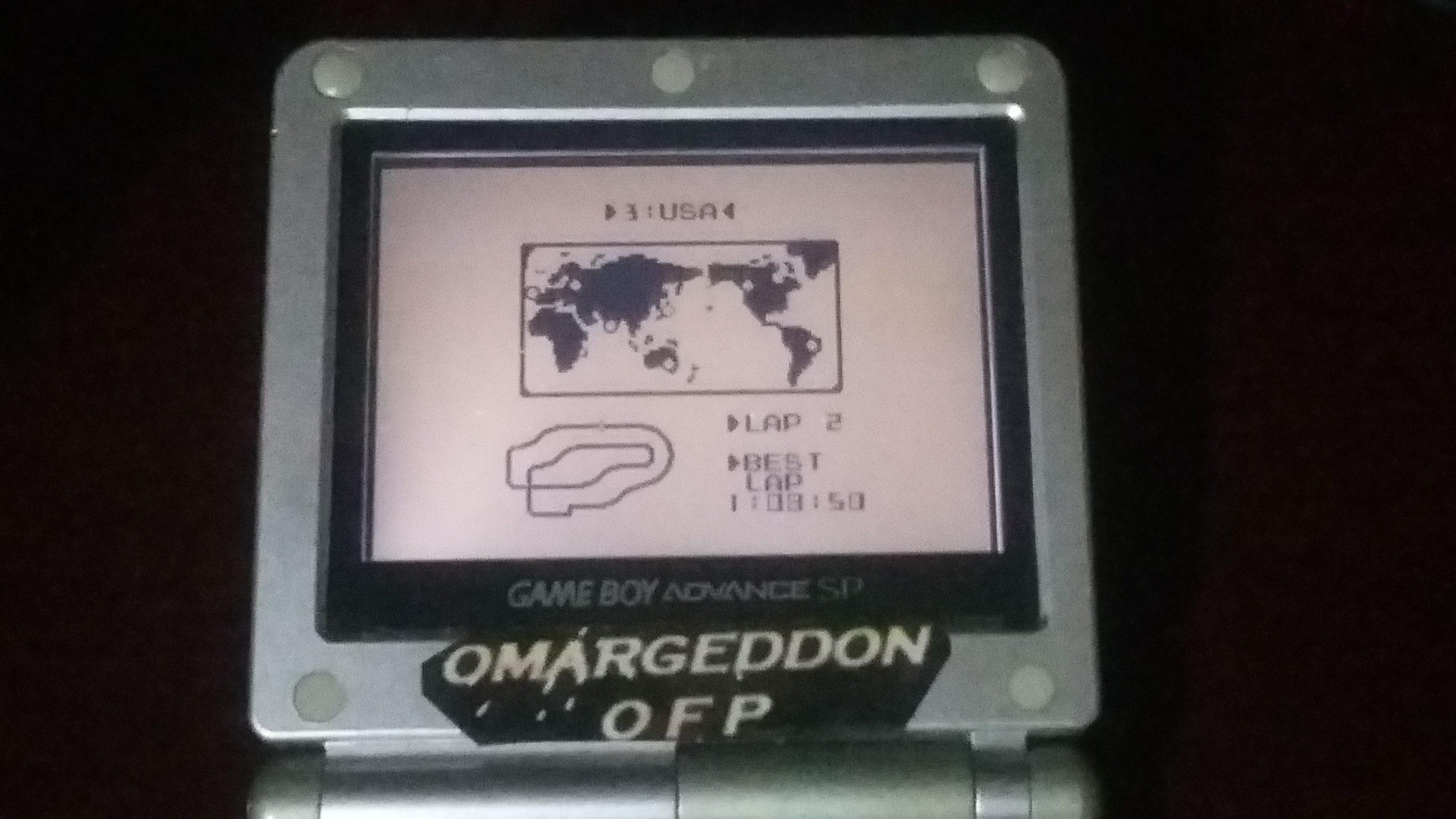 omargeddon: F-1 Race: Time Trials: Single: U.S.A. [Best Lap] (Game Boy) 0:01:08.5 points on 2018-09-07 23:20:22