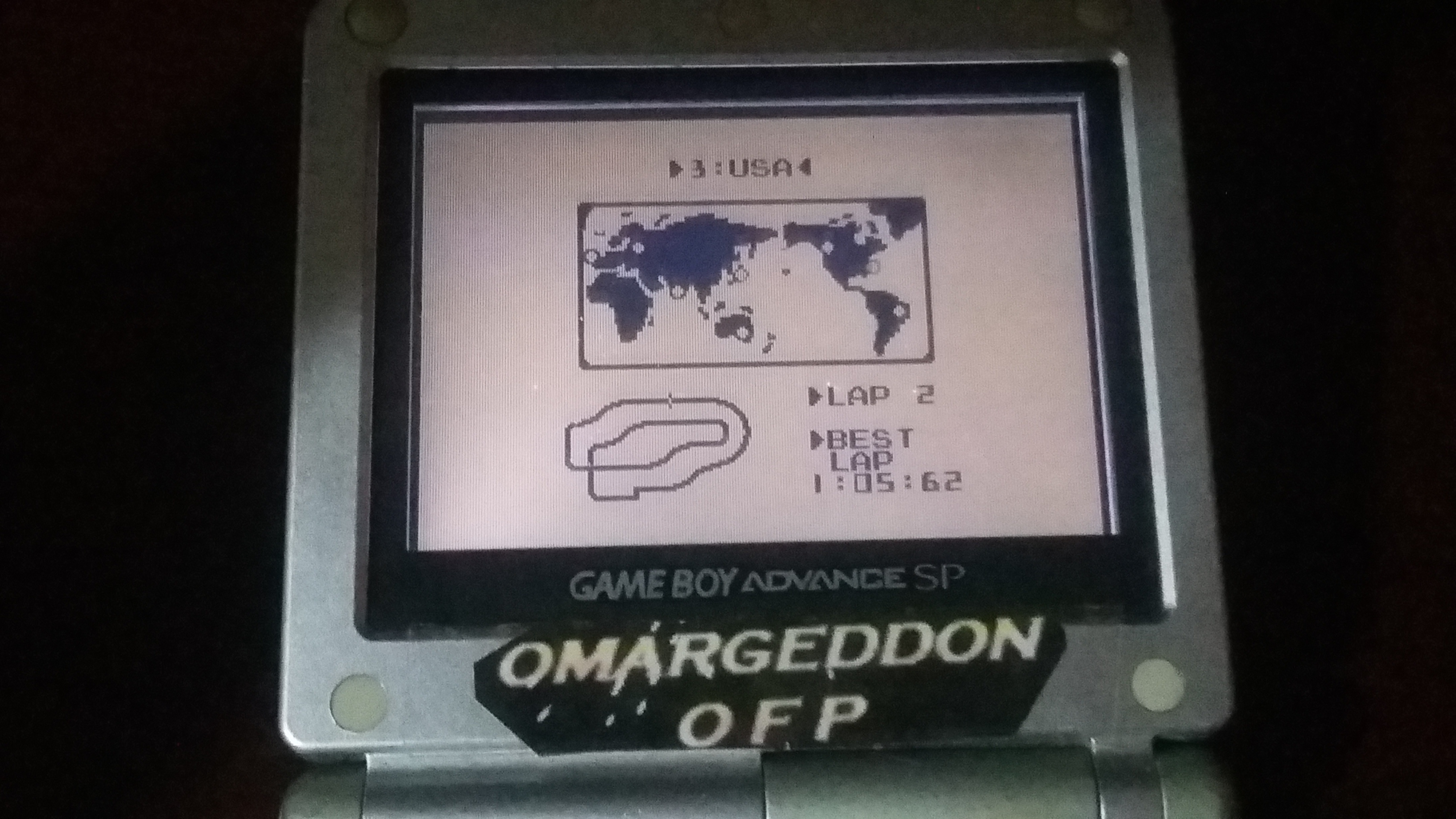 omargeddon: F-1 Race: Time Trials: Single: U.S.A. [Best Lap] (Game Boy) 0:01:05.62 points on 2018-10-22 11:57:18