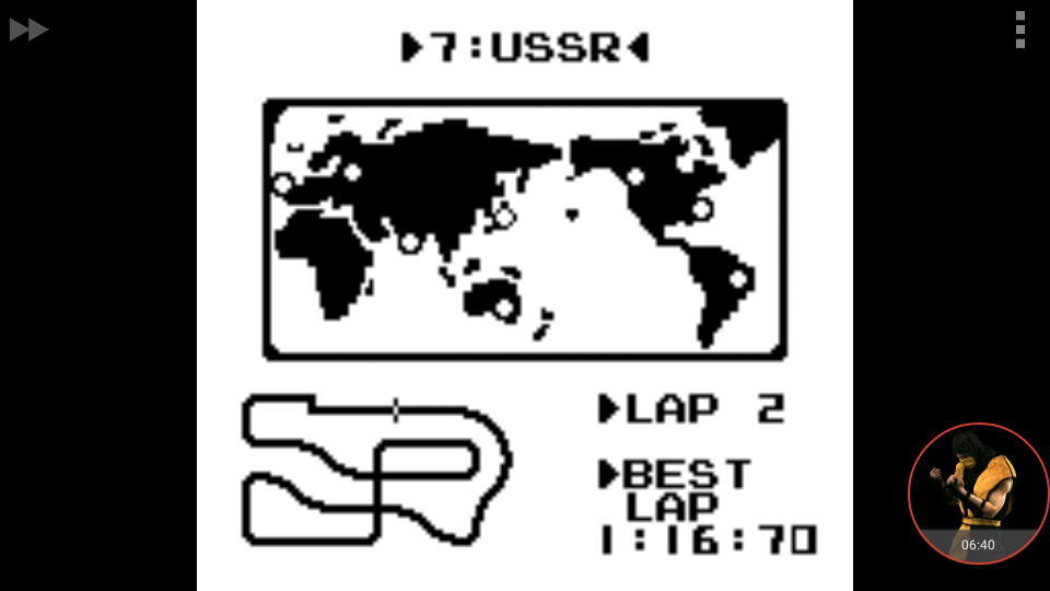 omargeddon: F-1 Race: Time Trials: Single: U.S.S.R. [Best Lap] (Game Boy Emulated) 0:01:16.7 points on 2018-01-05 16:10:38