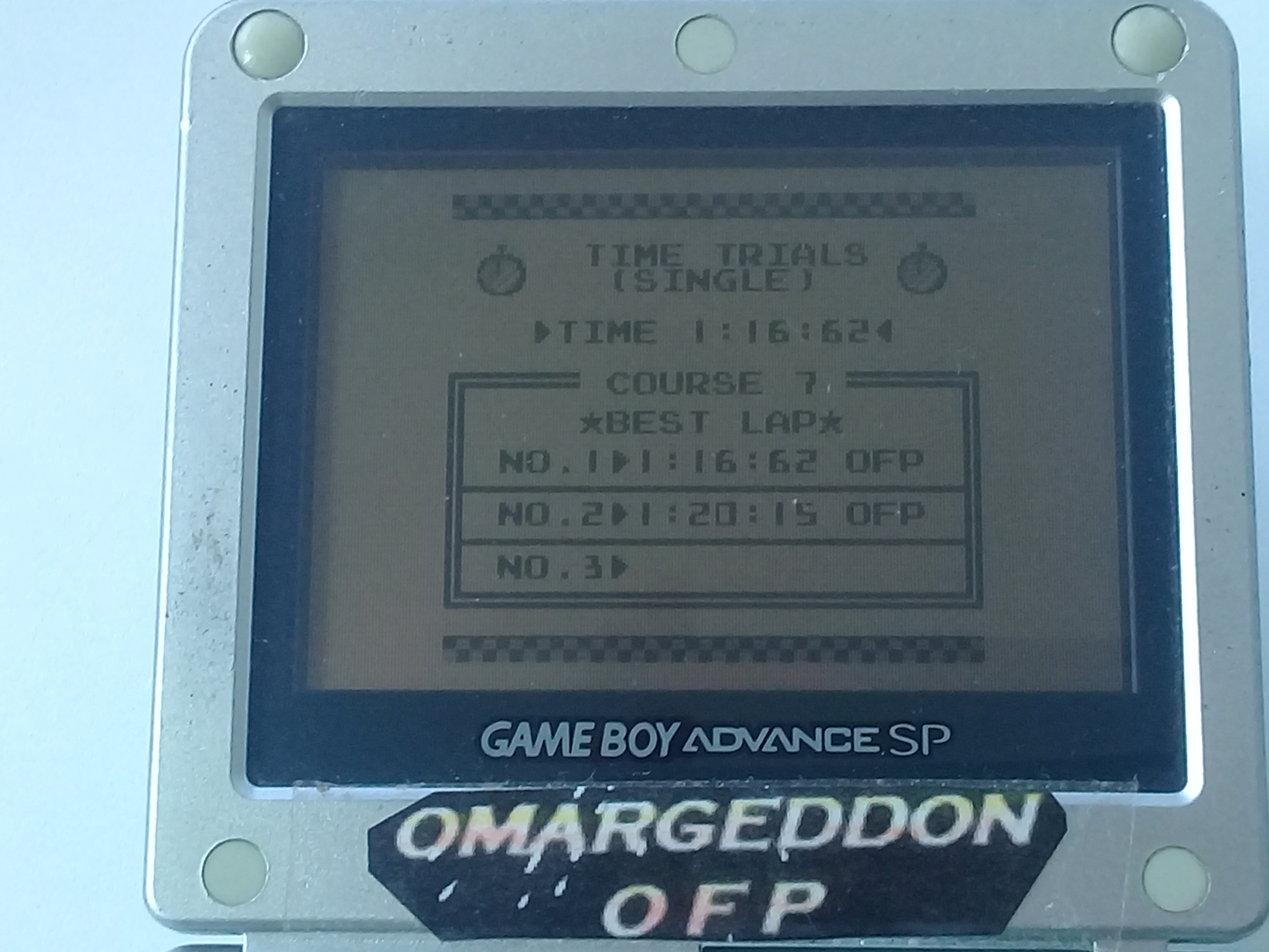 omargeddon: F-1 Race: Time Trials: Single: U.S.S.R. [Best Lap] (Game Boy) 0:01:16.62 points on 2018-11-19 12:59:39
