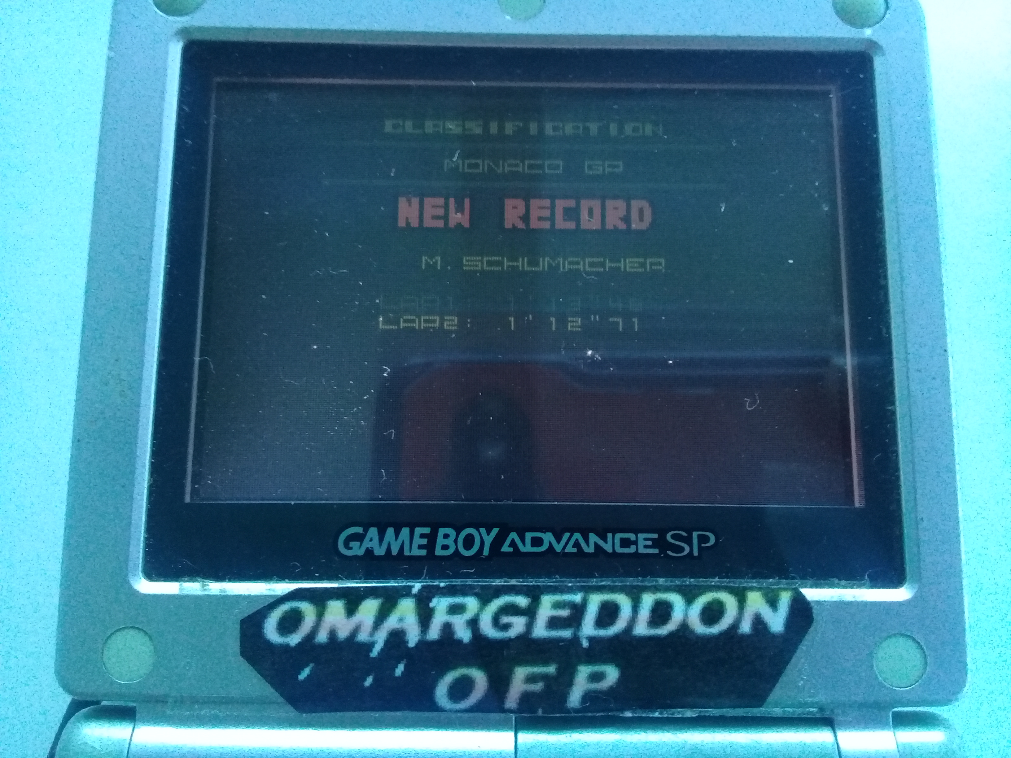 omargeddon: F-1 World Grand Prix II: Time Trials: Rookie: Track 04 Monaco GP [Best Lap] (Game Boy Color) 0:01:12.71 points on 2018-12-01 17:04:31