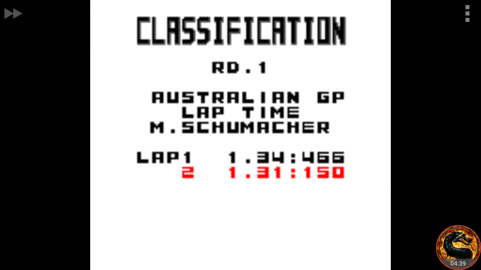 omargeddon: F-1 World Grand Prix: Time Trials: Rookie: Track 01 Australian GP [Best Lap] (Game Boy Color Emulated) 0:01:31.15 points on 2018-08-30 00:11:35