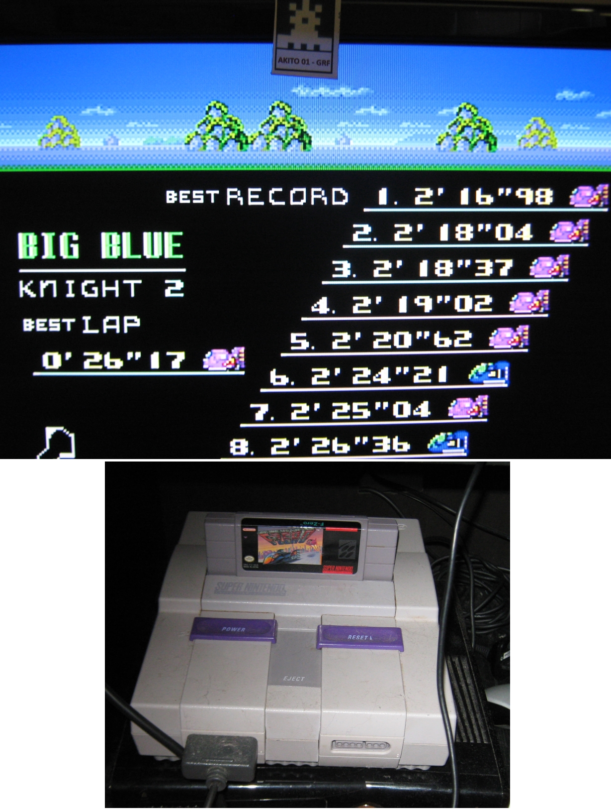 F-Zero: Big Blue [Beginner] time of 0:02:16.98