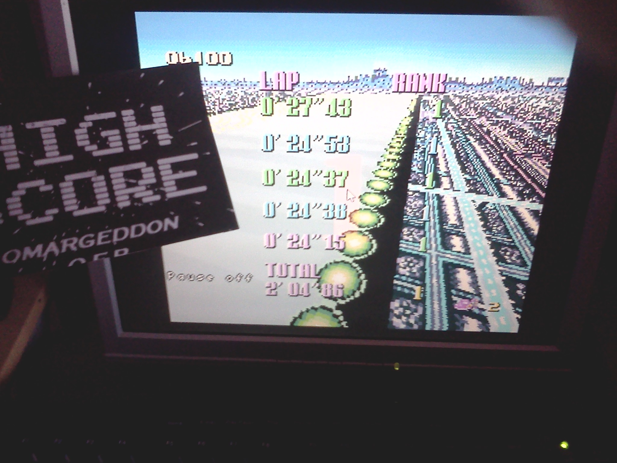 F-Zero: Mute City I [Beginner] time of 0:02:04.86