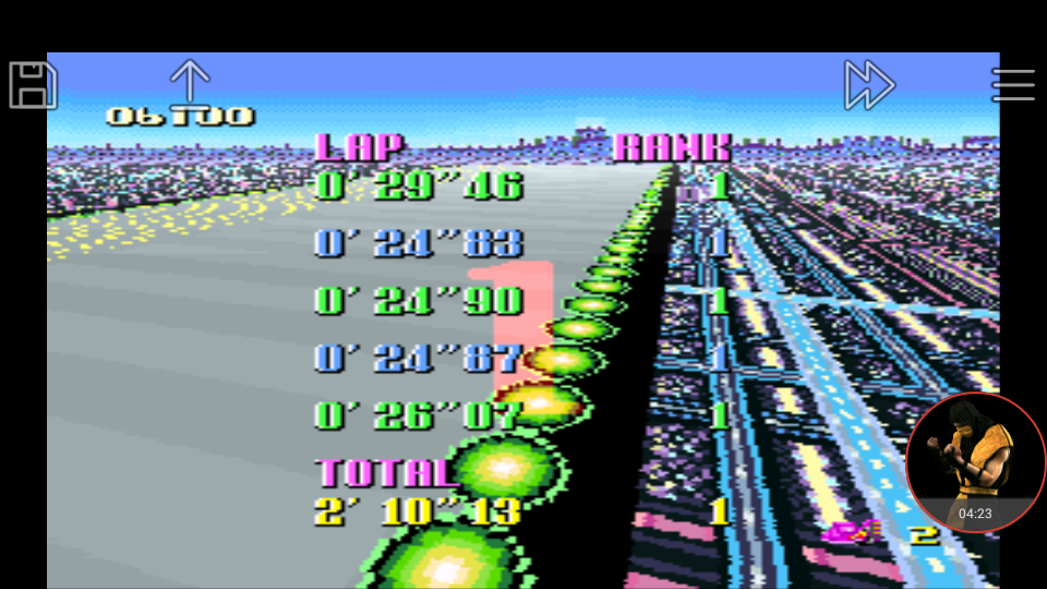 omargeddon: F-Zero: Mute City I [Beginner] (SNES/Super Famicom Emulated) 0:02:10.13 points on 2018-01-06 00:29:42