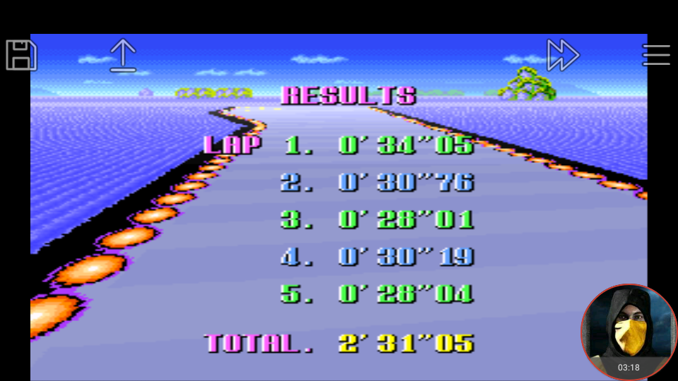 omargeddon: F-Zero: Practice [No Rival]: Big Blue (SNES/Super Famicom Emulated) 0:02:31.05 points on 2018-02-19 03:03:18