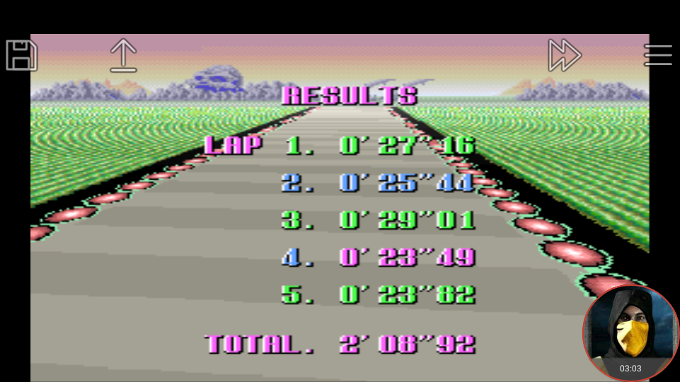 omargeddon: F-Zero: Practice [No Rival]: Death Wind I (SNES/Super Famicom Emulated) 0:02:08.92 points on 2018-02-19 02:15:12