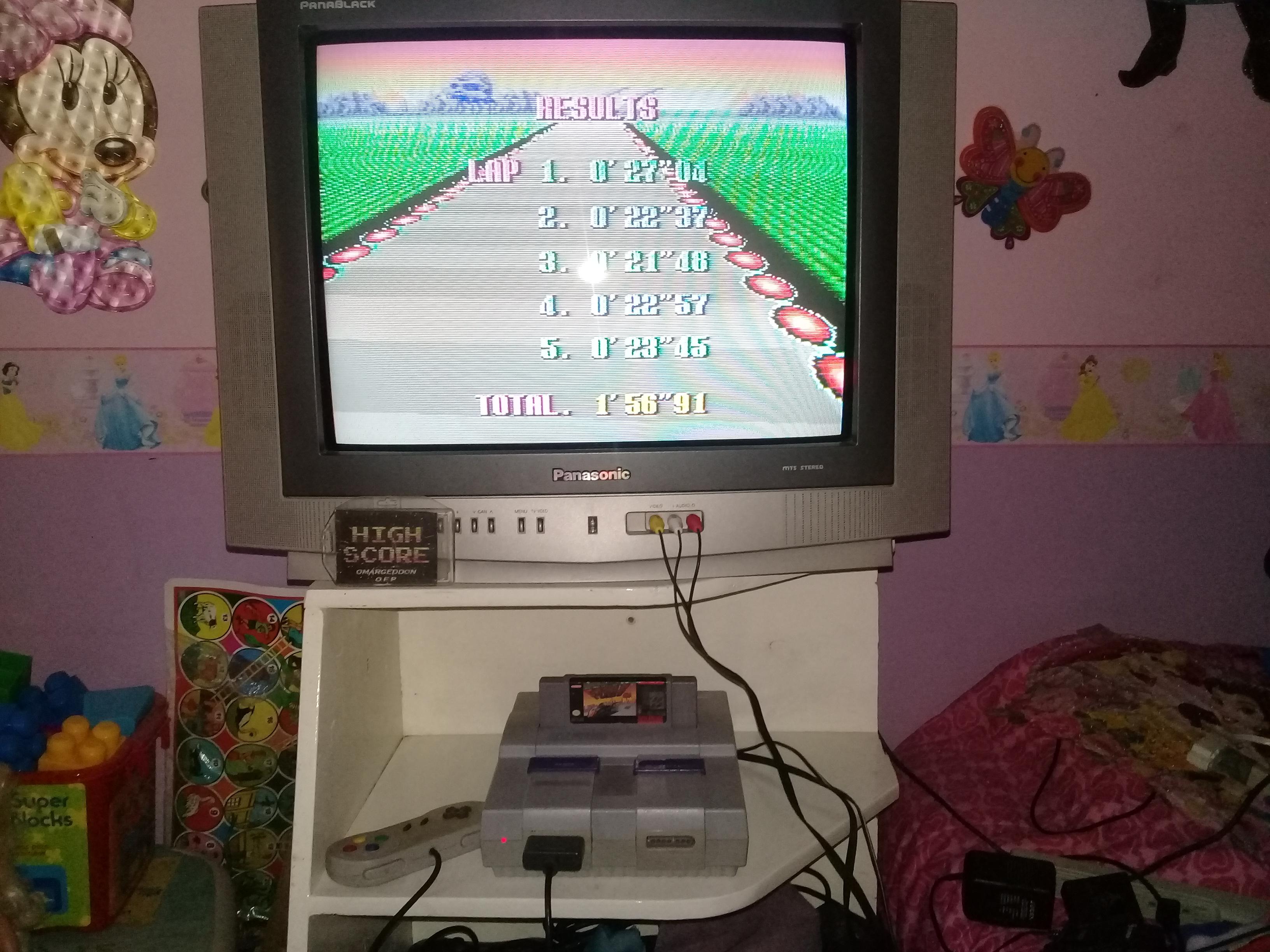 omargeddon: F-Zero: Practice [No Rival]: Death Wind I (SNES/Super Famicom) 0:01:56.91 points on 2019-06-14 12:43:55