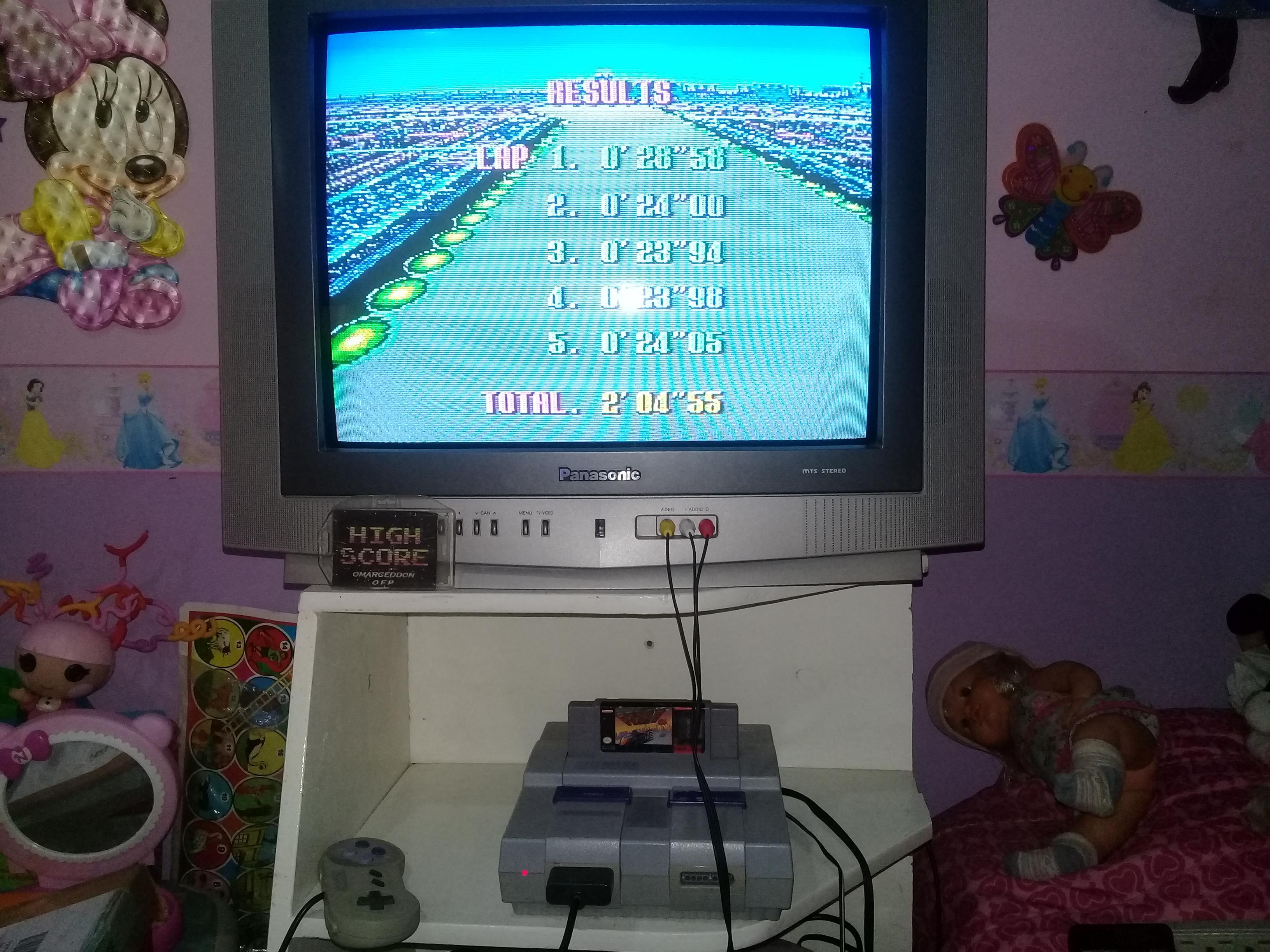 omargeddon: F-Zero: Practice [No Rival]: Mute City I (SNES/Super Famicom) 0:02:04.55 points on 2019-06-25 11:49:43