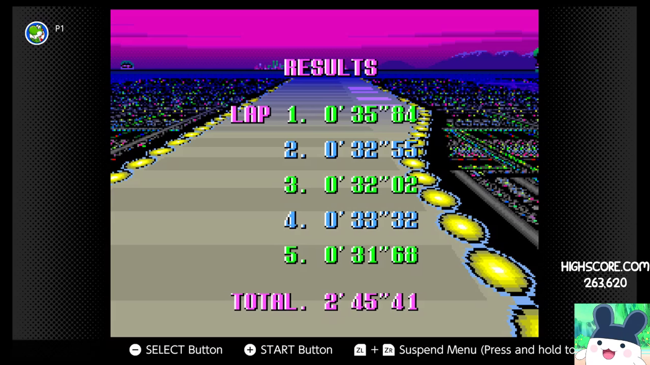 F-Zero: Practice [No Rival]: Port Town II time of 0:02:45.41