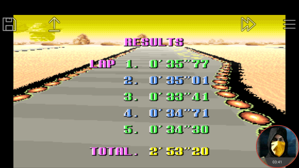 omargeddon: F-Zero: Practice [No Rival]: Sand Ocean (SNES/Super Famicom Emulated) 0:02:53.2 points on 2018-02-19 02:04:39