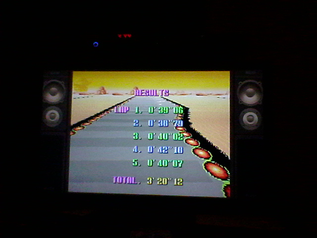 F-Zero: Practice [No Rival]: Sand Ocean time of 3:20:12