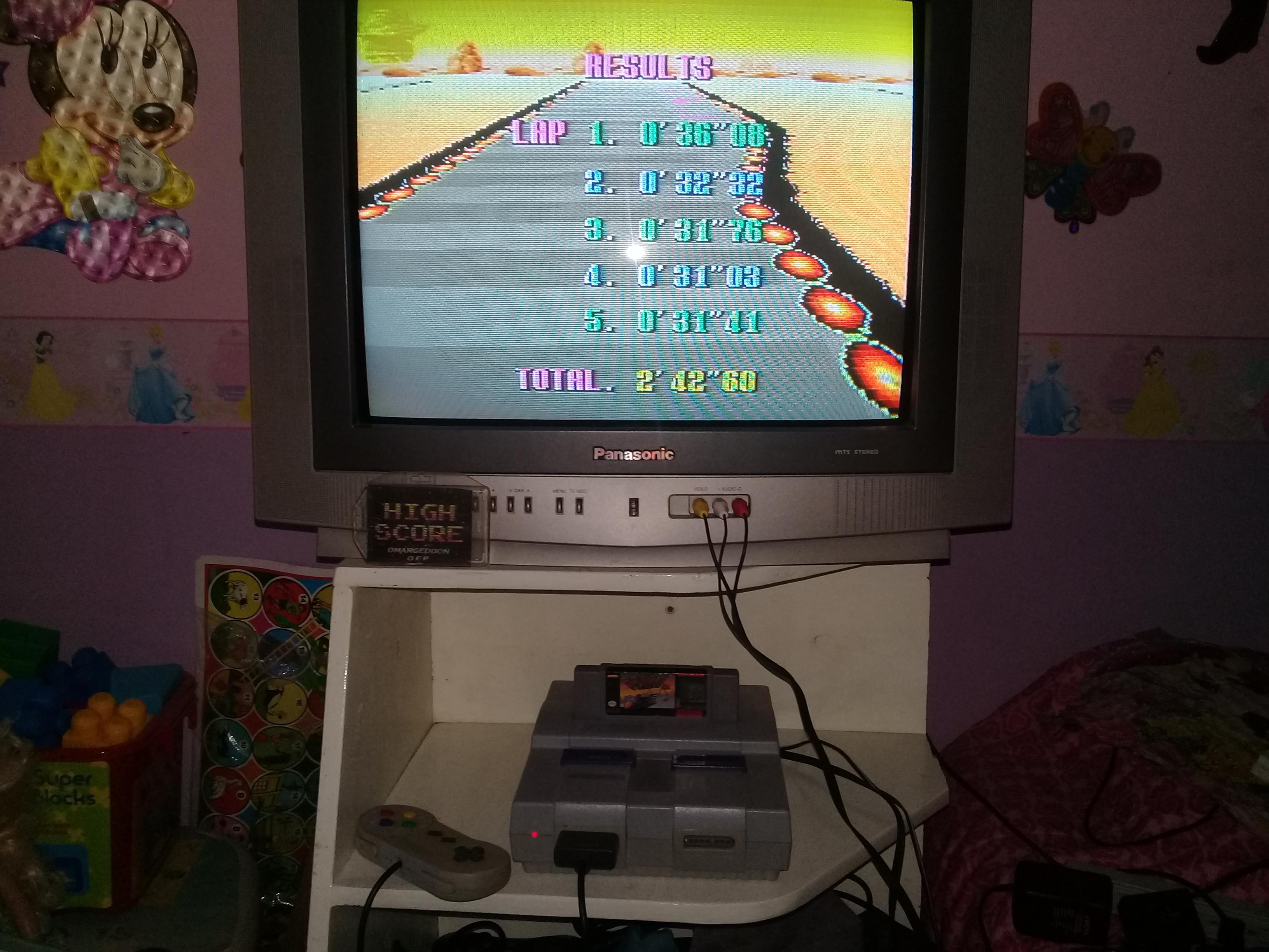 omargeddon: F-Zero: Practice [No Rival]: Sand Ocean (SNES/Super Famicom) 0:02:42.6 points on 2019-06-14 12:48:48