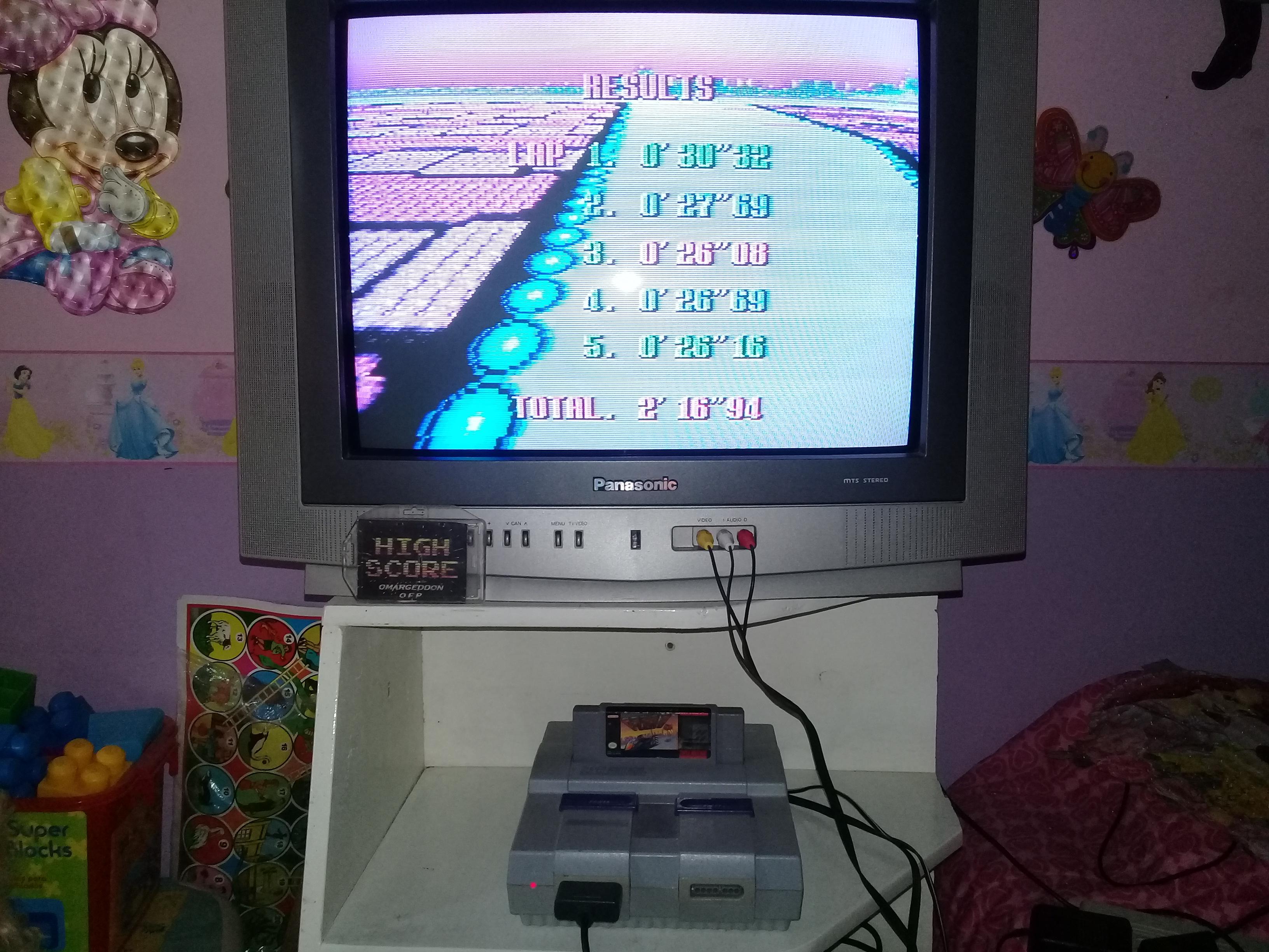 omargeddon: F-Zero: Practice [No Rival]: White Land I (SNES/Super Famicom) 0:02:16.94 points on 2019-06-14 15:40:52