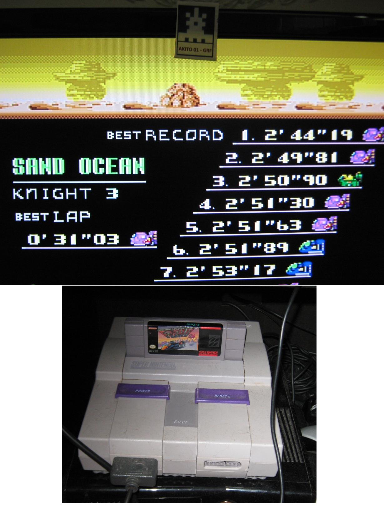 Akito01: F-Zero: Sand Ocean [Beginner] (SNES/Super Famicom) 0:02:44.19 points on 2015-07-18 22:58:15