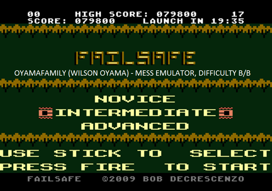 oyamafamily: Failsafe: Intermediate (Atari 7800 Emulated) 79,800 points on 2016-02-17 16:49:01