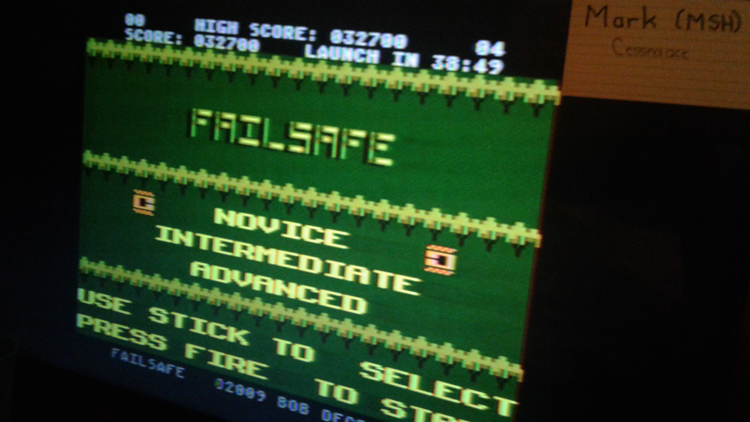 Mark: Failsafe: Novice (Atari 7800) 32,700 points on 2019-04-16 00:24:24