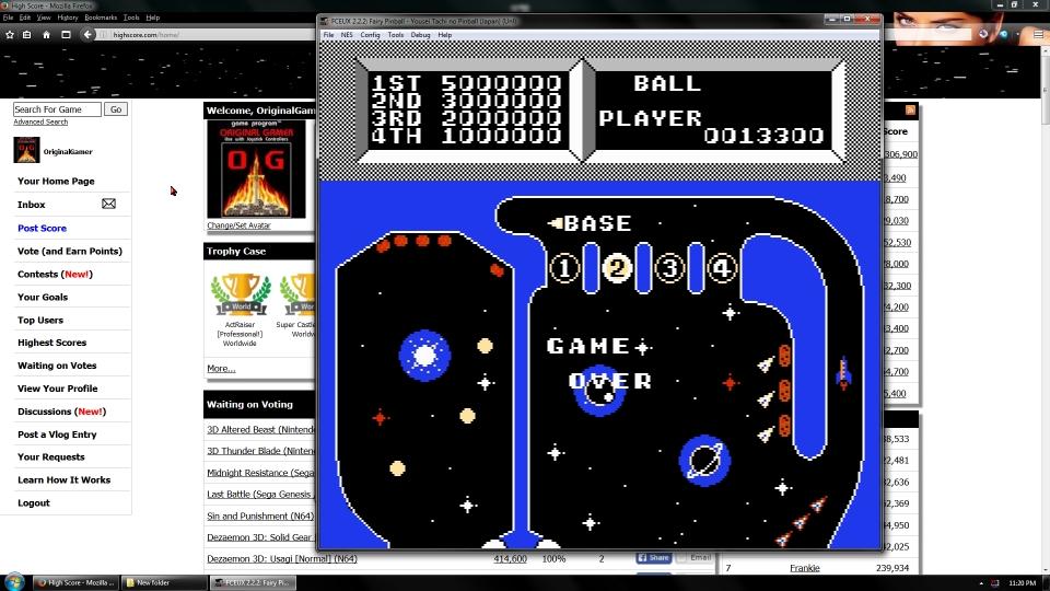OriginalGamer: Fairy Pinball: Asteroid (NES/Famicom Emulated) 13,300 points on 2016-07-01 23:39:54