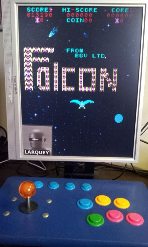 Larquey: Falcon [falcon] (Arcade Emulated / M.A.M.E.) 13,290 points on 2018-01-02 10:48:00