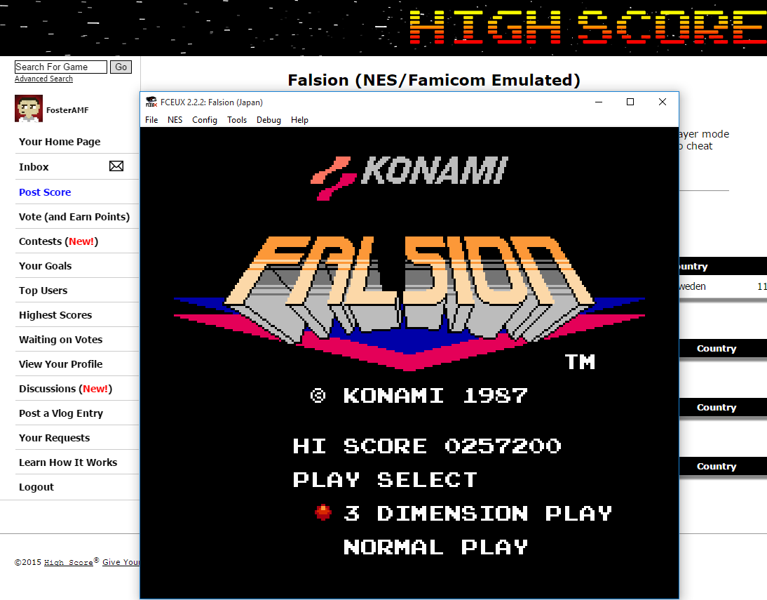 FosterAMF: Falsion (NES/Famicom Emulated) 257,200 points on 2015-09-02 03:25:32