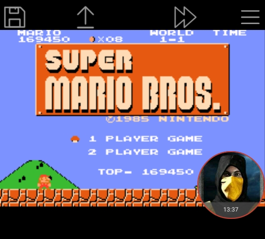 omargeddon: Famicom Mini: Vol. 1: Super Mario Bros. (GBA Emulated) 169,450 points on 2018-01-16 19:00:17